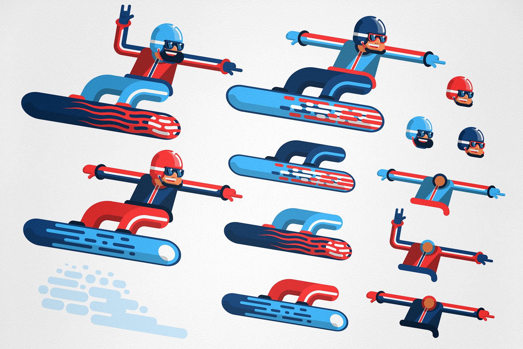 Snowboarding People example image 2