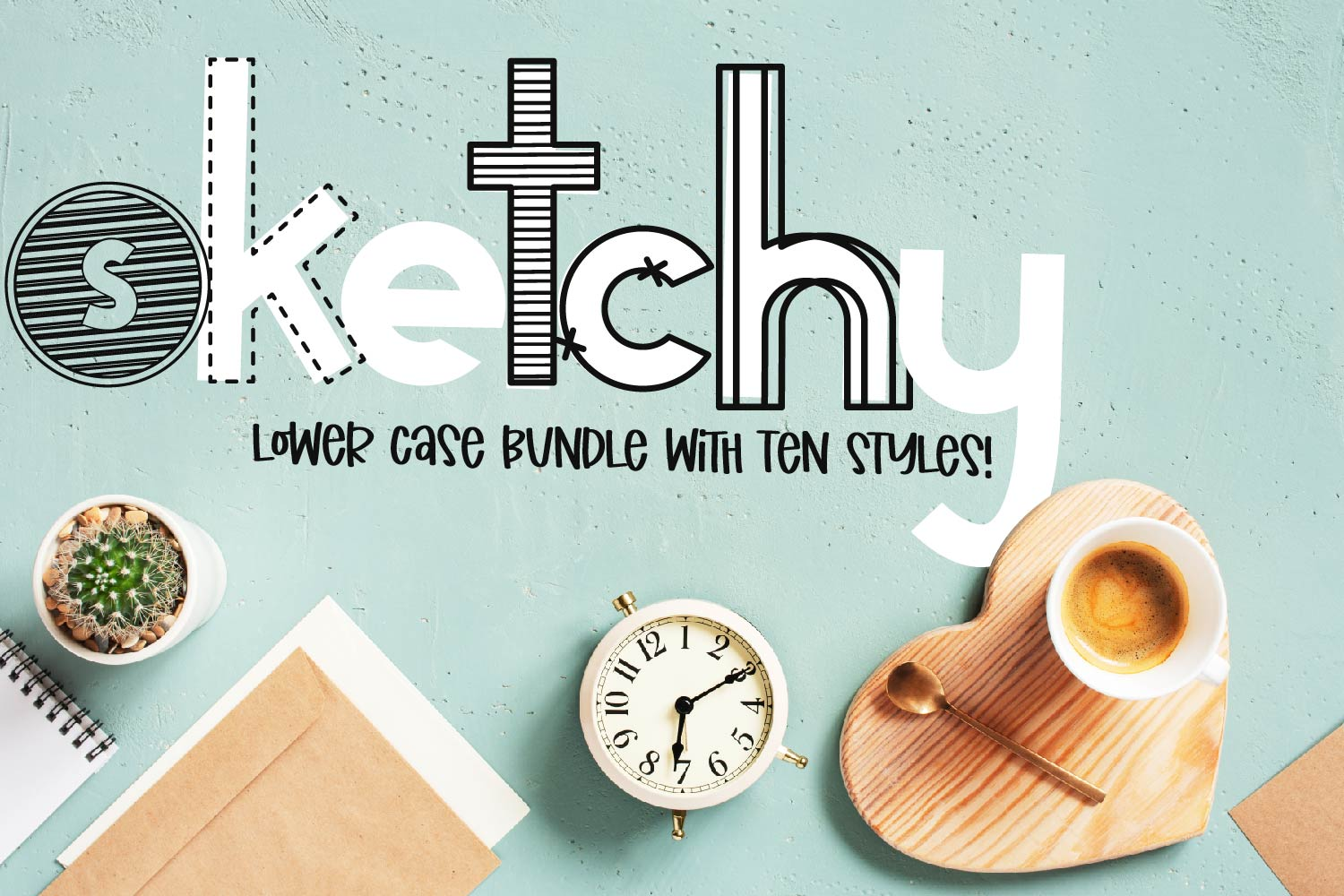 Sketchy - A Lower Case Bundle With 10 Styles! example image 1