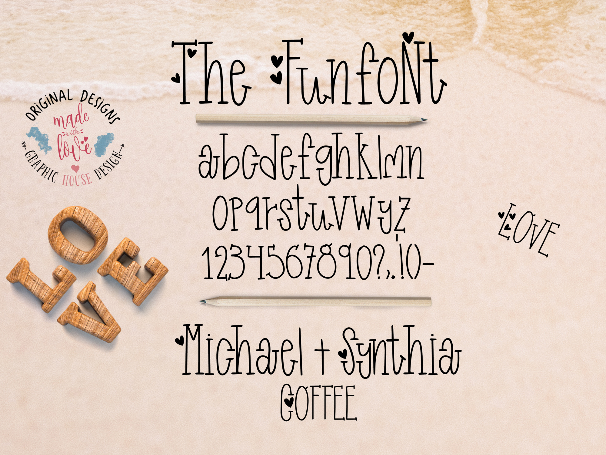 Funfont - Modern Hand Lettered Font with Cute Alternate Capitals example image 3