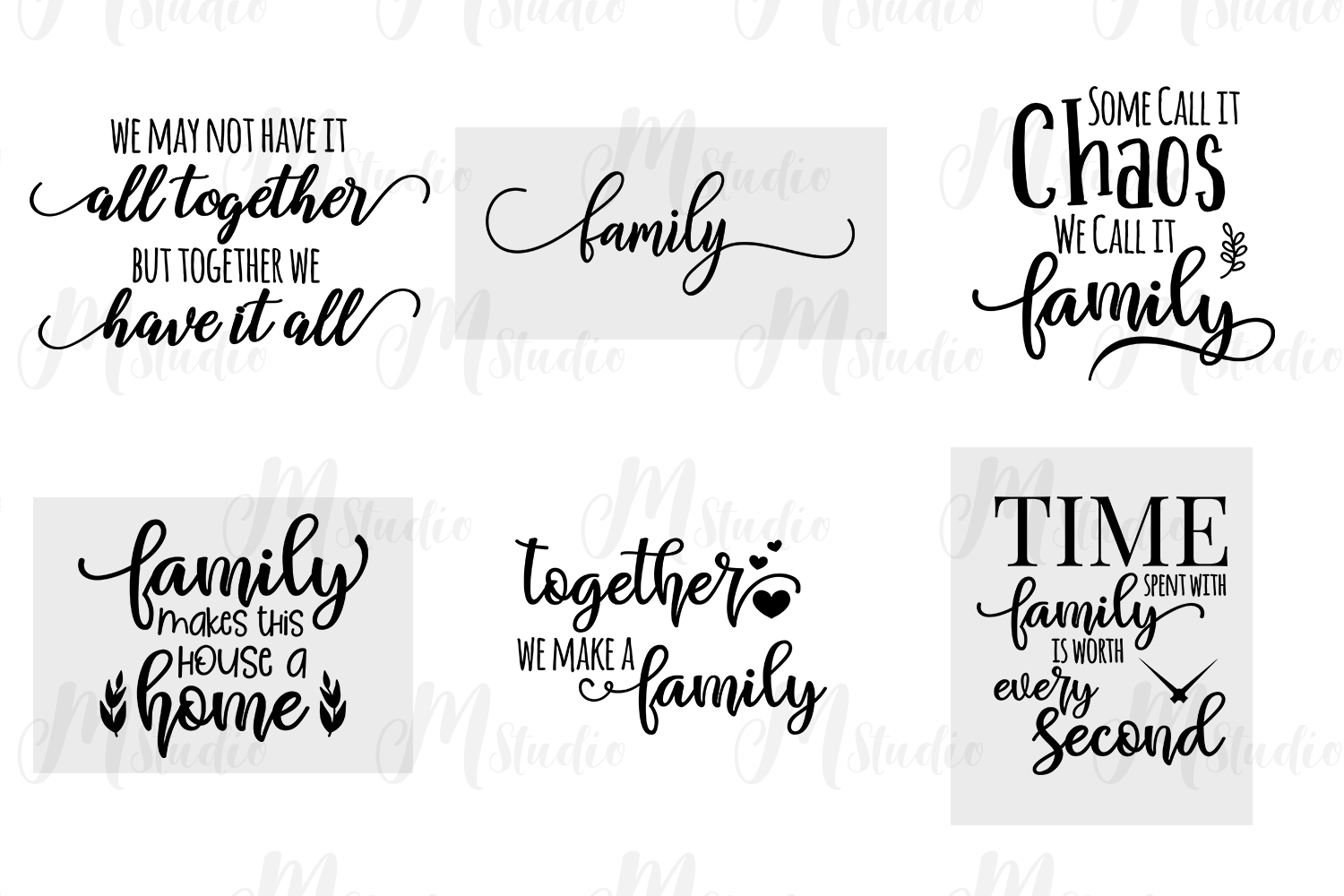 Family Quotes svg bundle example image 5