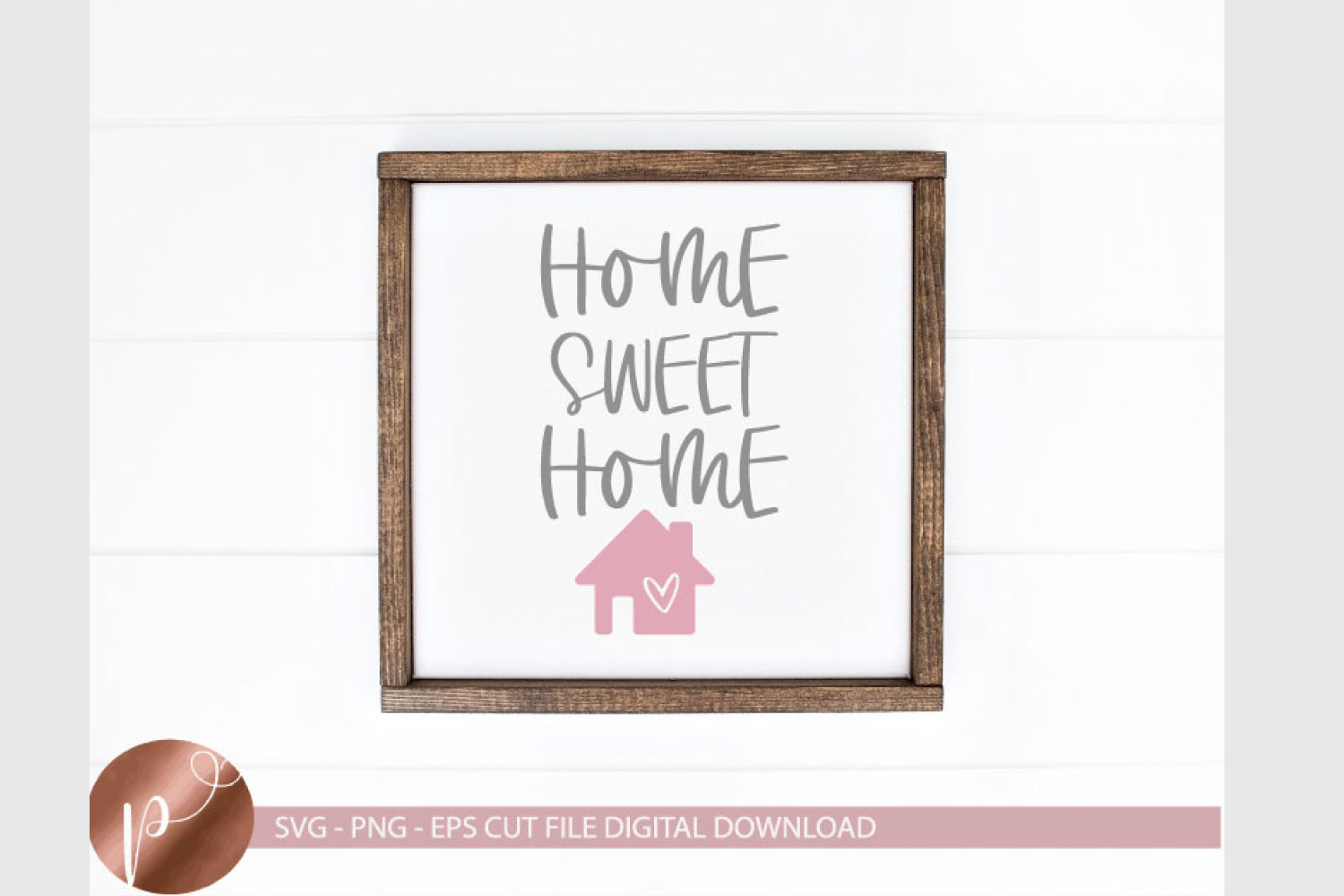 Home Sweet Home svg png eps, Farmhouse Cut File, Wood Sign example image 1