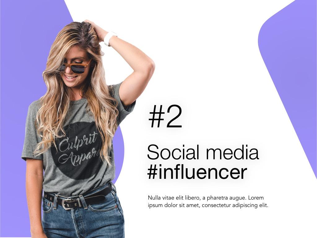Influencer Marketing Google Slides Template example image 3