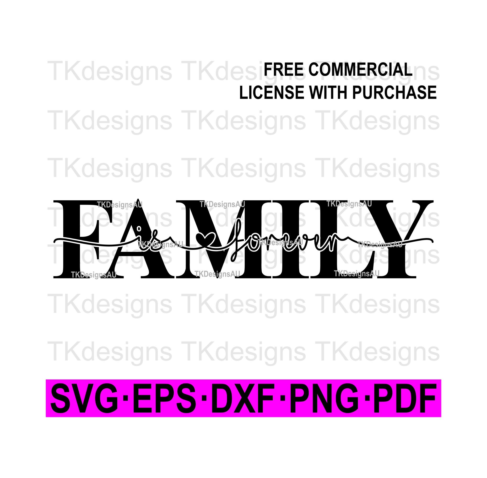 Family Is Forever Knockout SVG example image 1