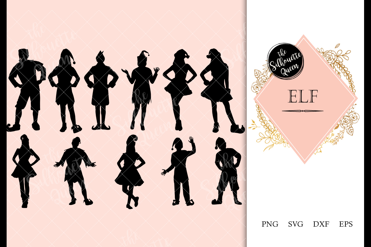Elf svg file, Christmas svg cut file, silhouette studio example image 1