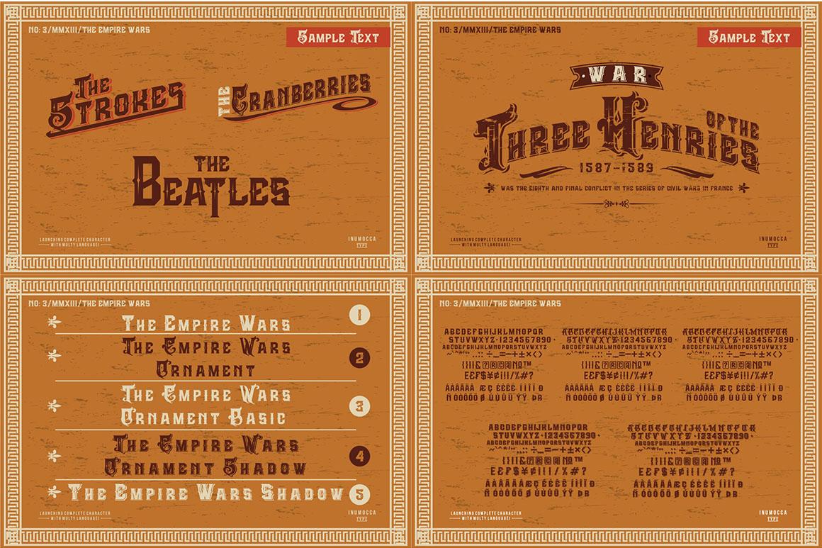 5 Typeface vintage bundle example image 2
