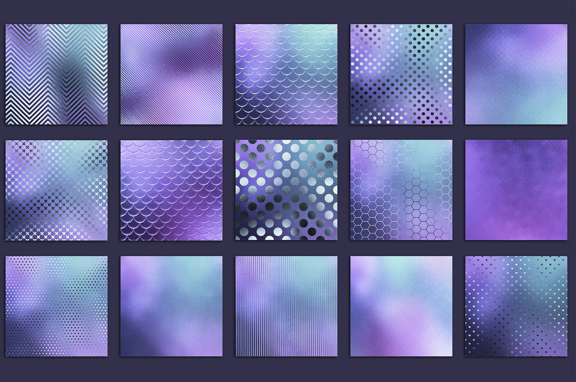Iridescent Marble and Glitter Textures BUNDLE example image 13