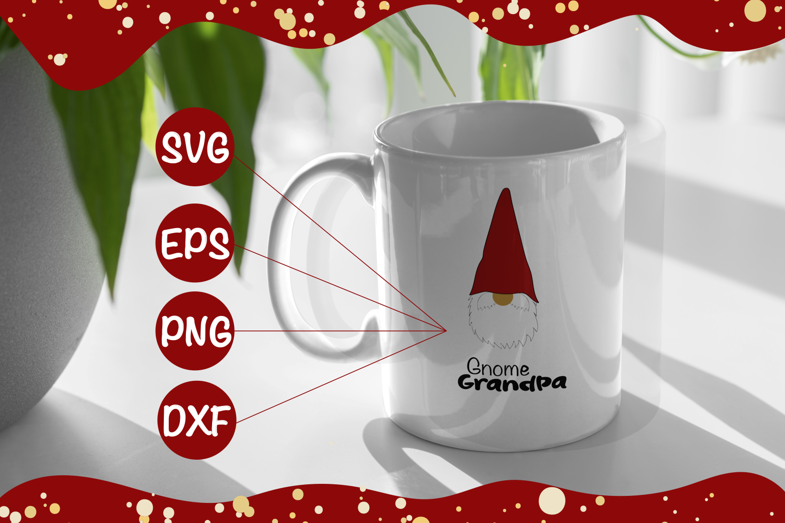 Gnome Grandpa svg,eps,png, dxf example image 1