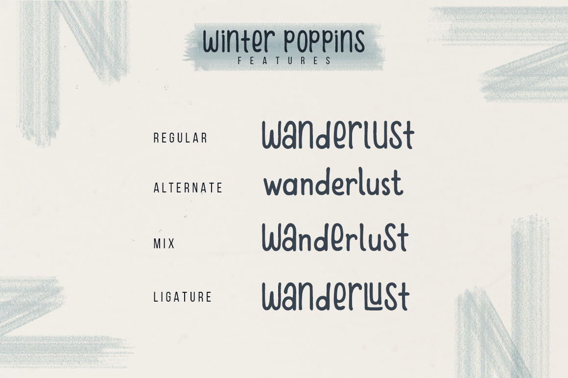 Winter Poppins | Handwritten Font example image 6