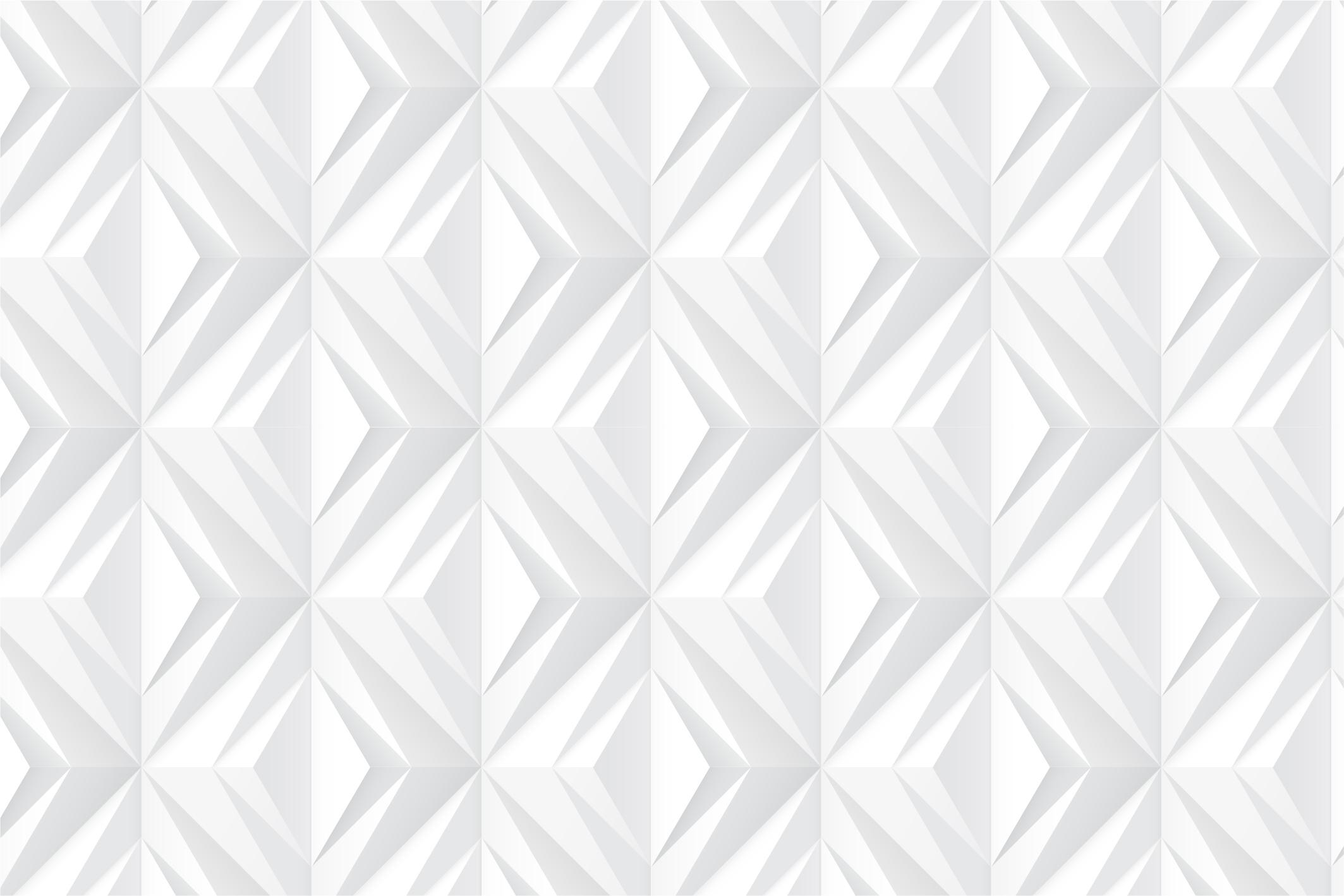 White geometric 3d seamless textures example image 7