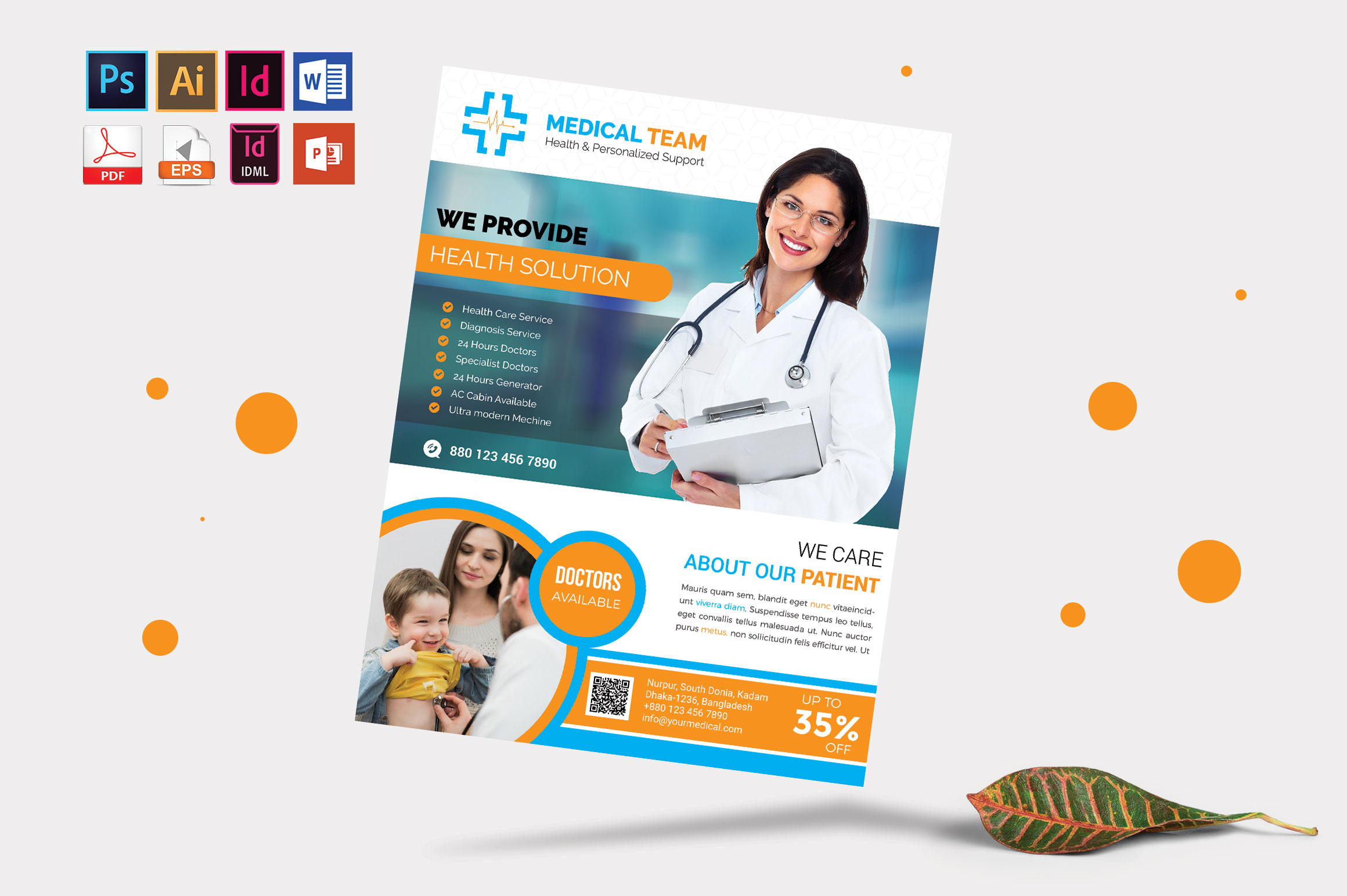 Doctor & Medical Flyer. Vol-08 example image 4
