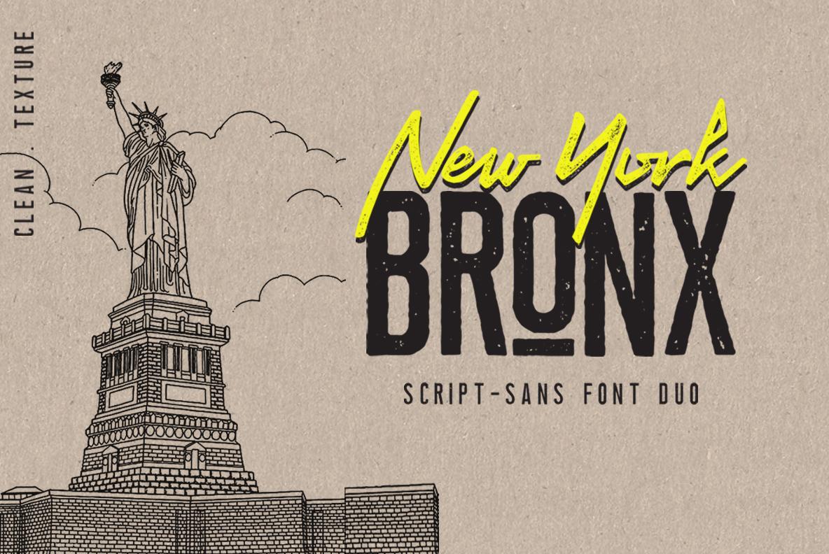 Newyork Bronx sans-script font duo example image 1