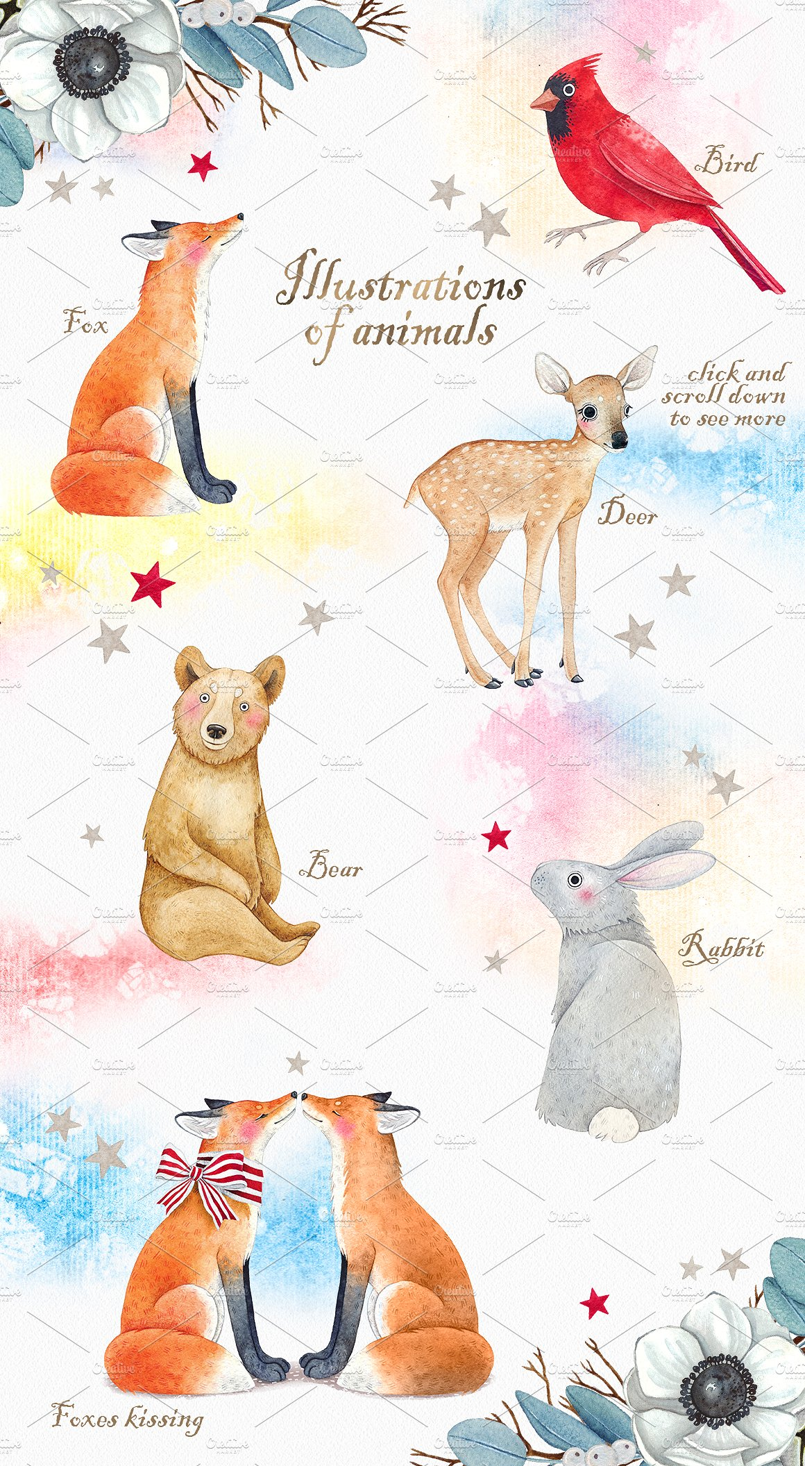 CHRISTMAS STORY watercolor set example image 4