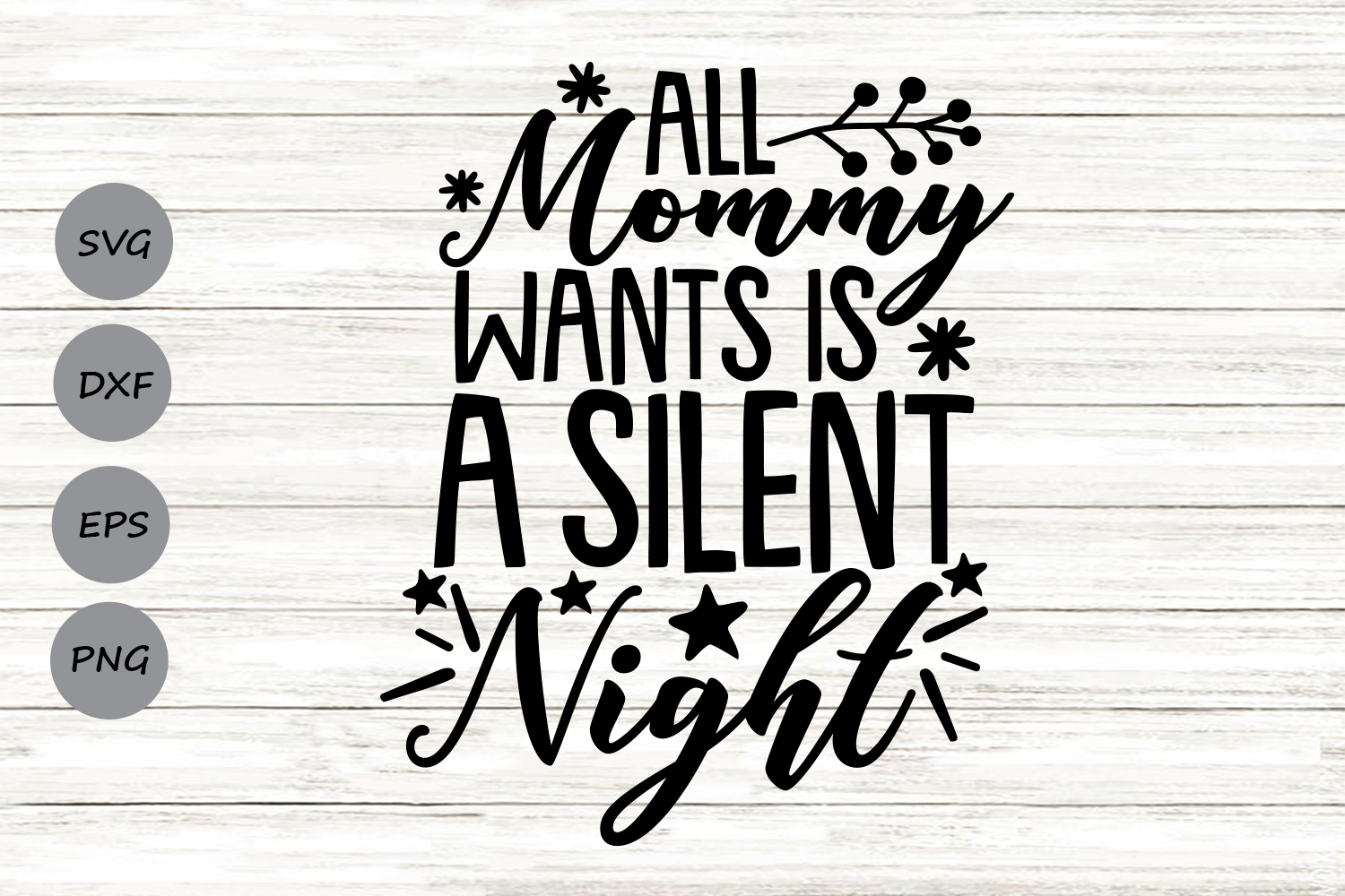 All Mama Wants Is A Silent Night Svg, Christmas Svg. example image 1