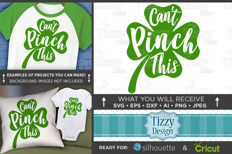 Can't Pinch This SVG - Kids St. Patricks Day Shirt - 1070 example image 1