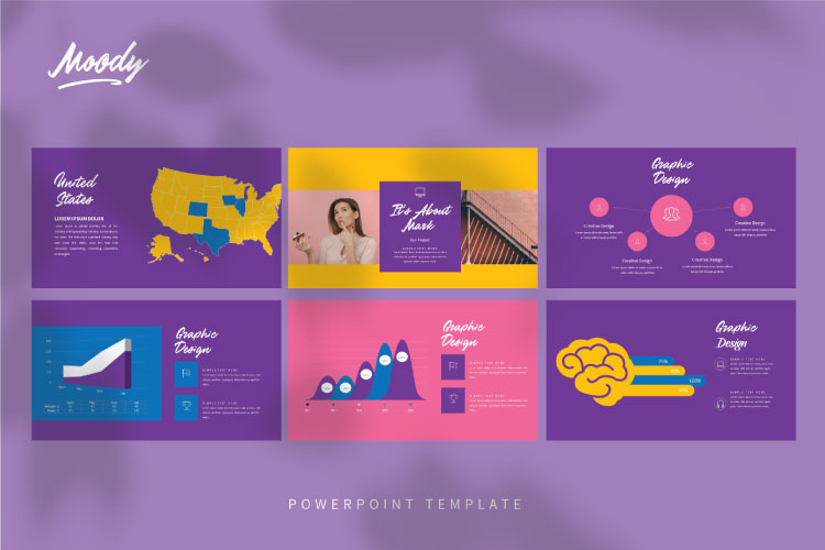 MOODY Powerpoint Template example image 6
