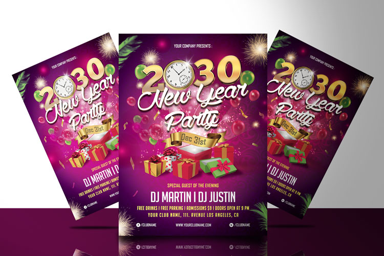 NEW YEAR PARTY FLYER 1 example image 1