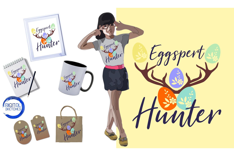 Eggspert Hunter Easter Cut File Vector Graphics Illustration example image 2
