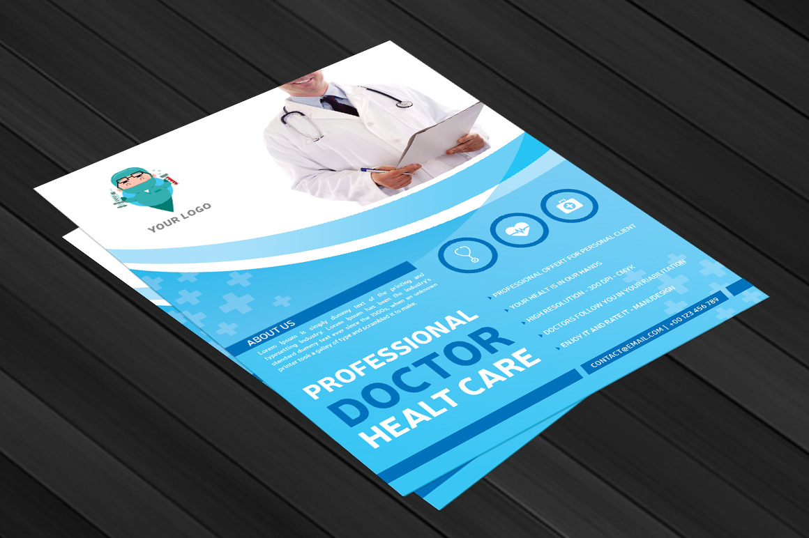 Professional Doctor Health Flyer example image 3