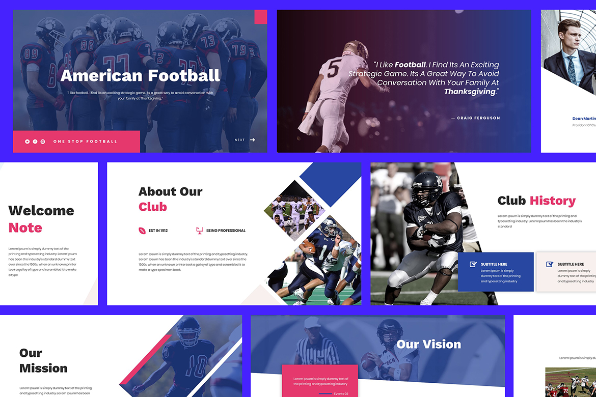 American Football Powerpoint example image 1