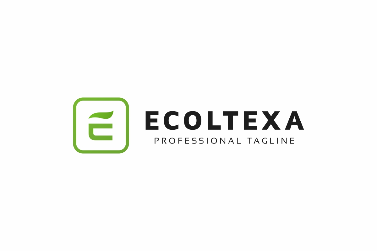 Ecoltexa E Letter Logo example image 3