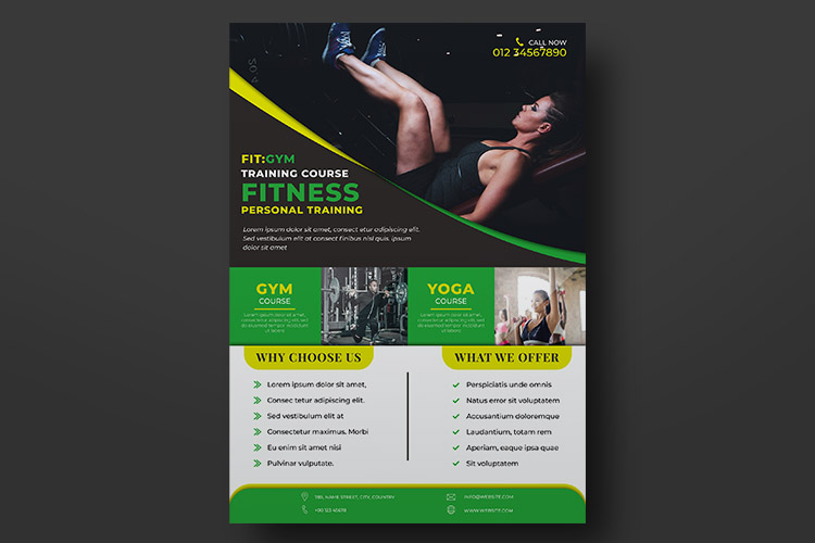 Fitness Flyer Templates example image 3