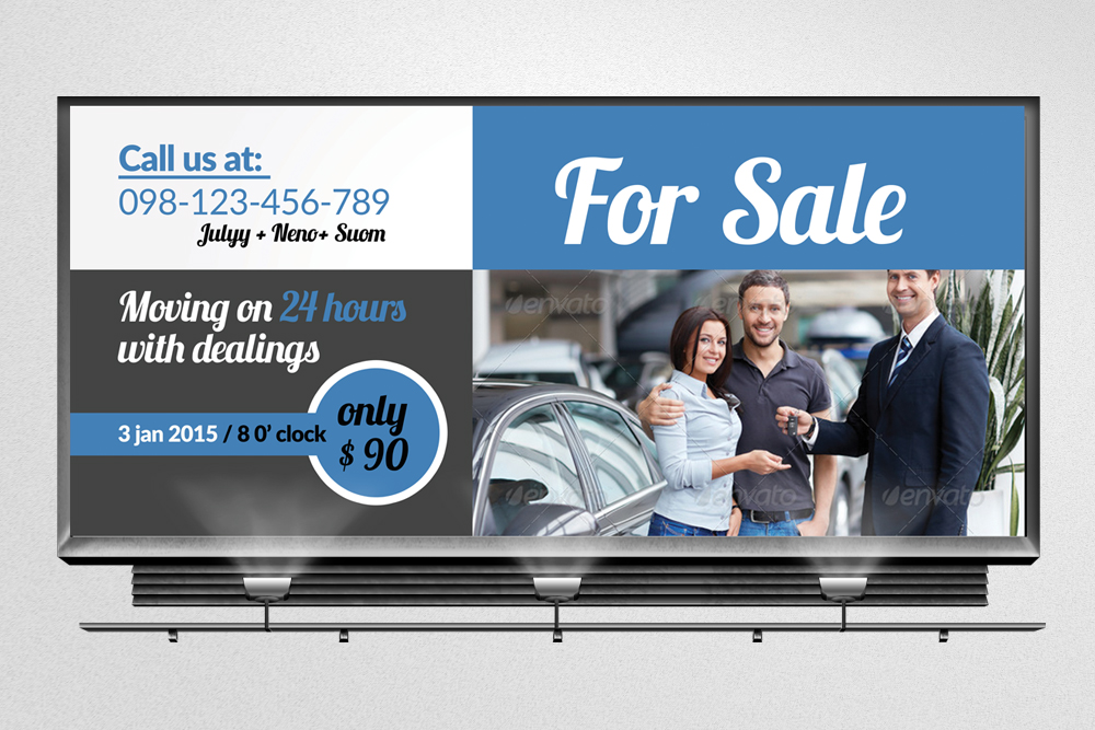Car Sale Billboard Banners example image 3
