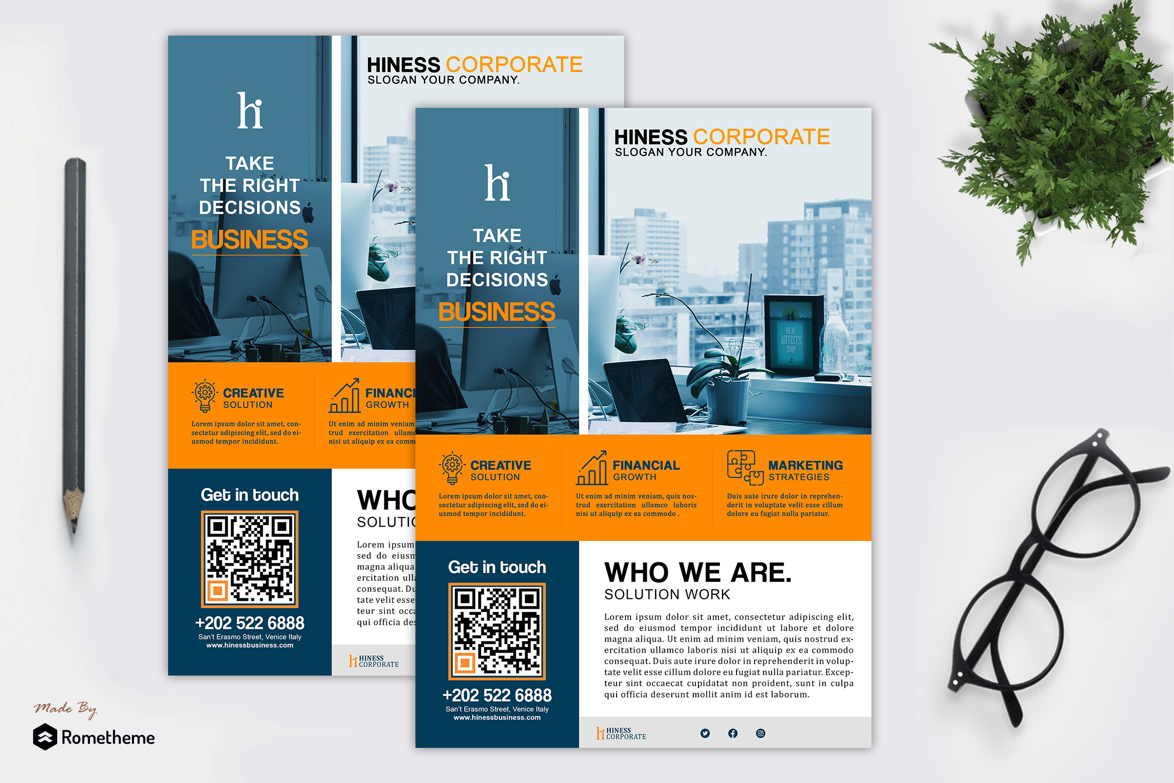 Hiness Corporate Flyer Template example image 1