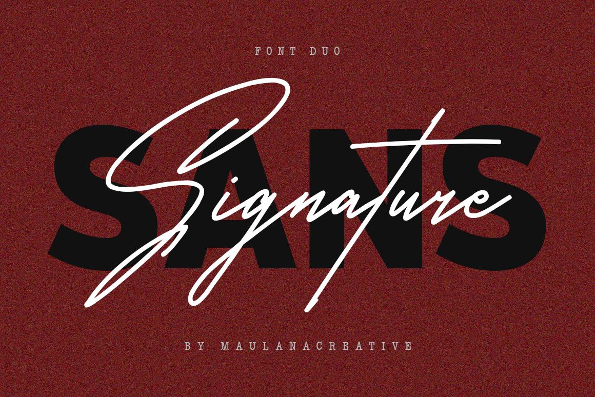 Satilas Signature - Free Sans example image 6