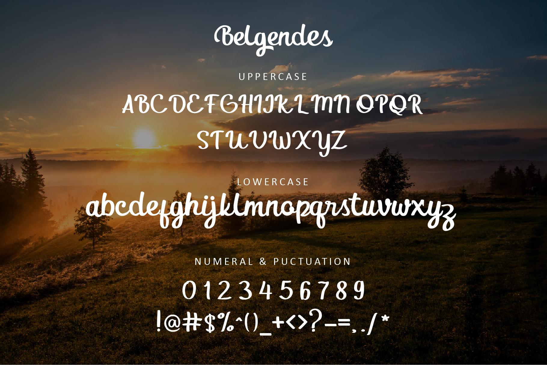 Belgendes Script example image 2