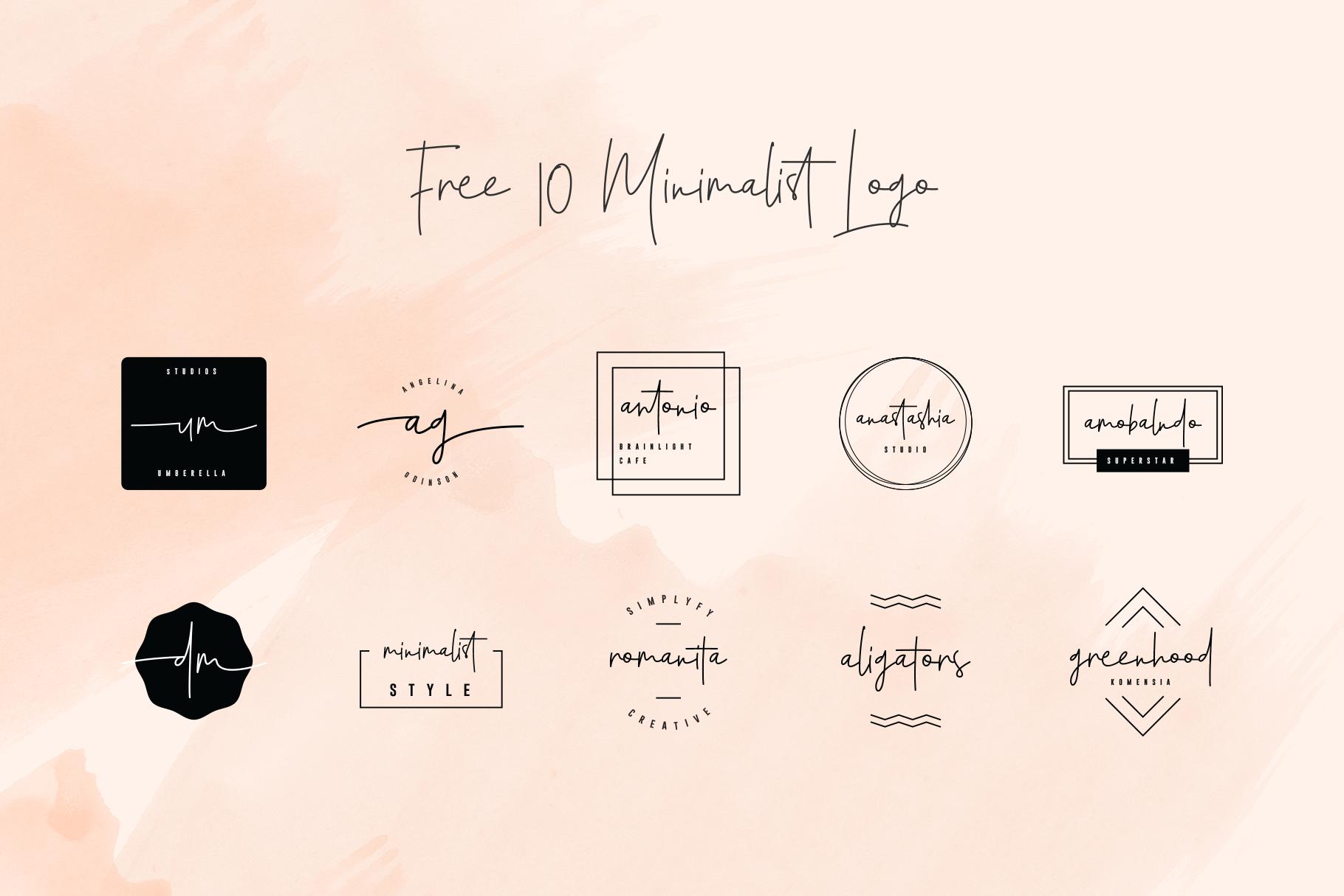 Santiago Pro - Signature Monoline / FREE 10 LOGO example image 16
