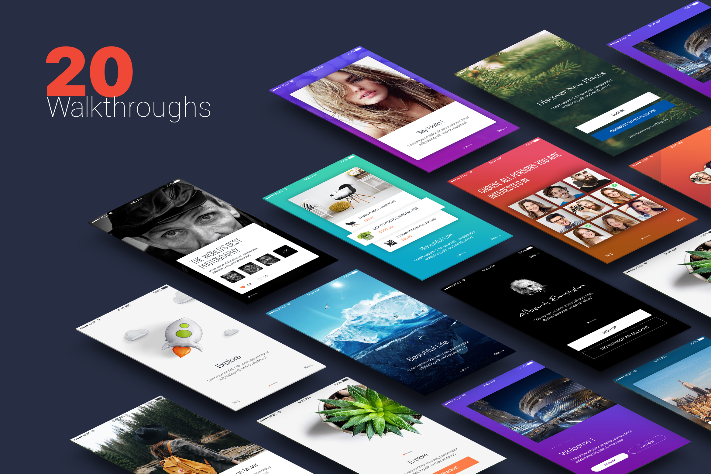 Walkthroughs - Mobile Template UI example image 1