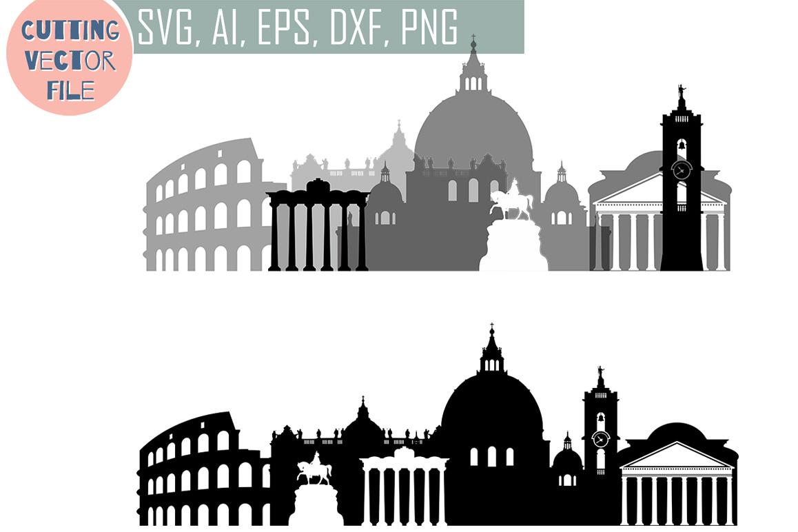 Rome Svg Italy Capital Vector Skyline Svg Jpg Png Dwg
