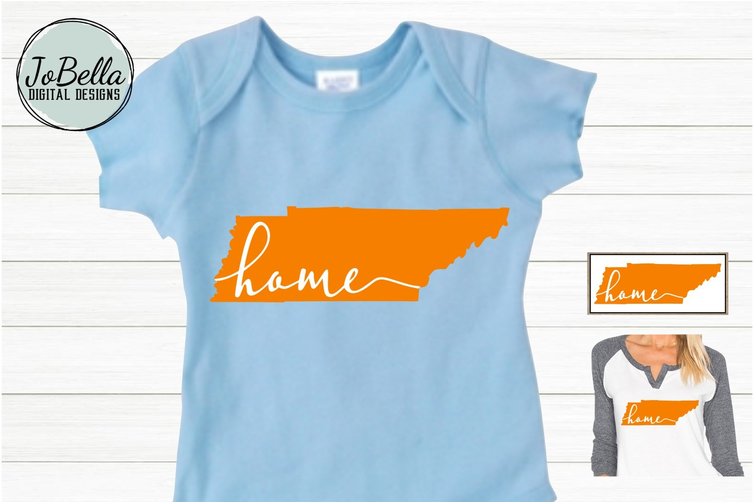 Orange Tennessee with Home SVG and Printable example image 3