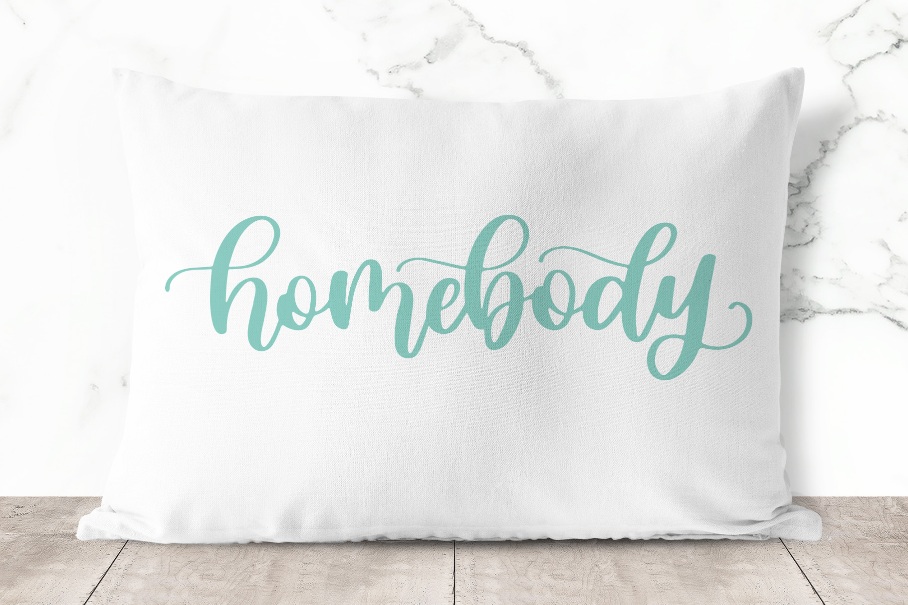 Homebody, Hand Lettered SVG Cut File example image 3