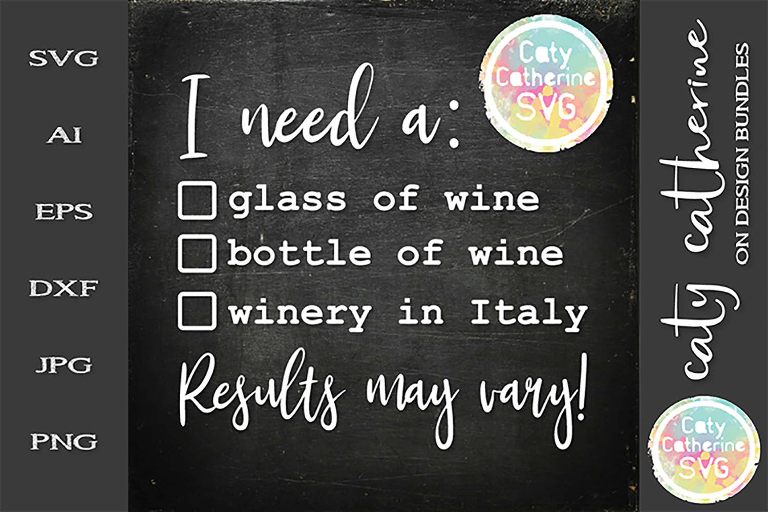I Need A Glass Of Bottle Of Wine Winery In Italy SVG example image 1