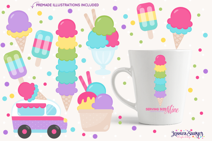 The Ultimate Ice Cream Clipart Pack example image 4