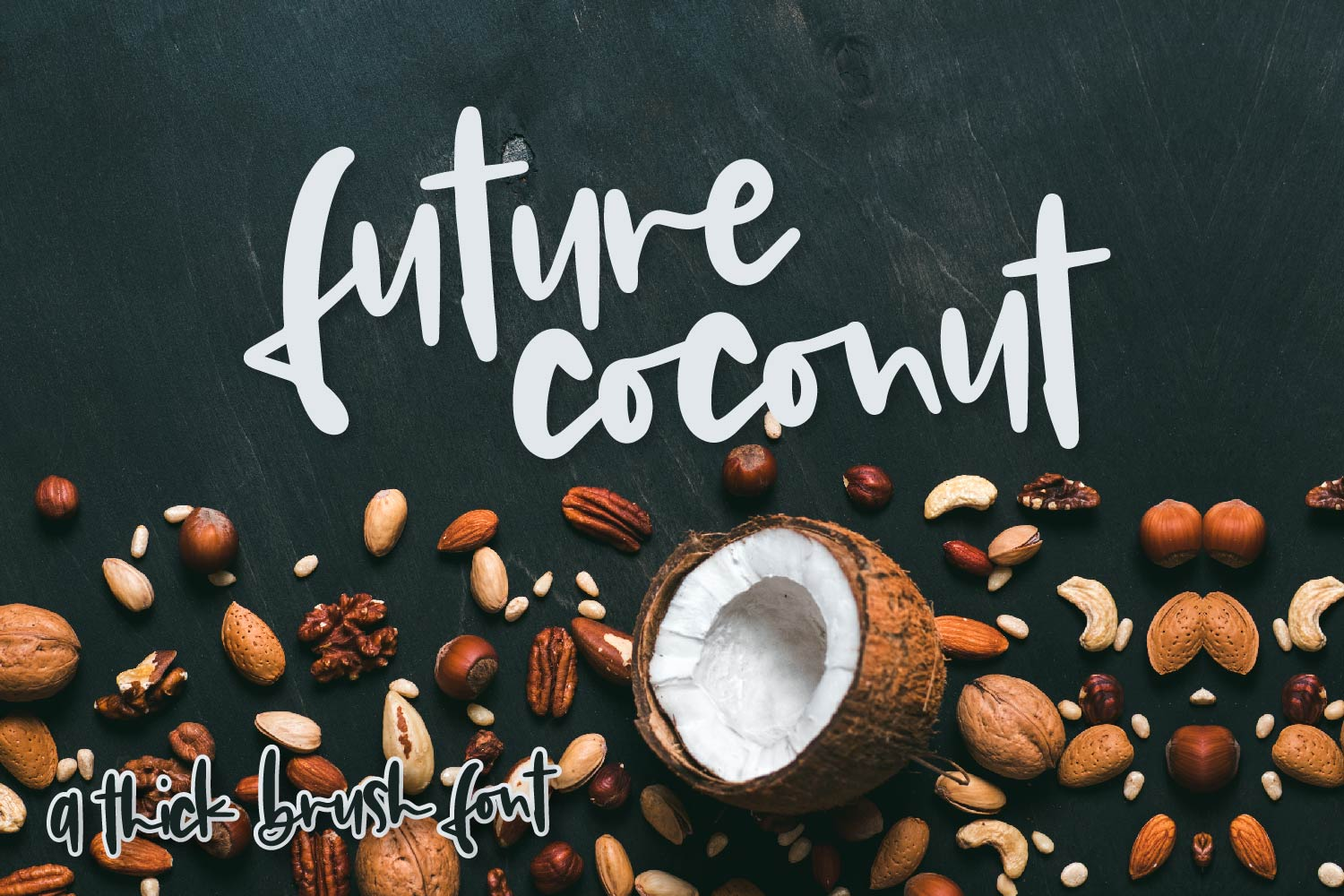 Future Coconut - A Thick Brush Font example image 1