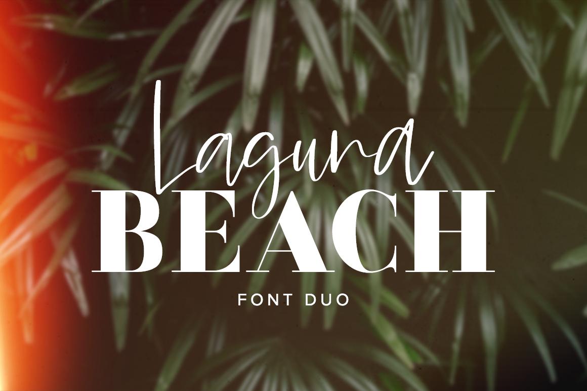 Laguna Beach Font Duo example image 1