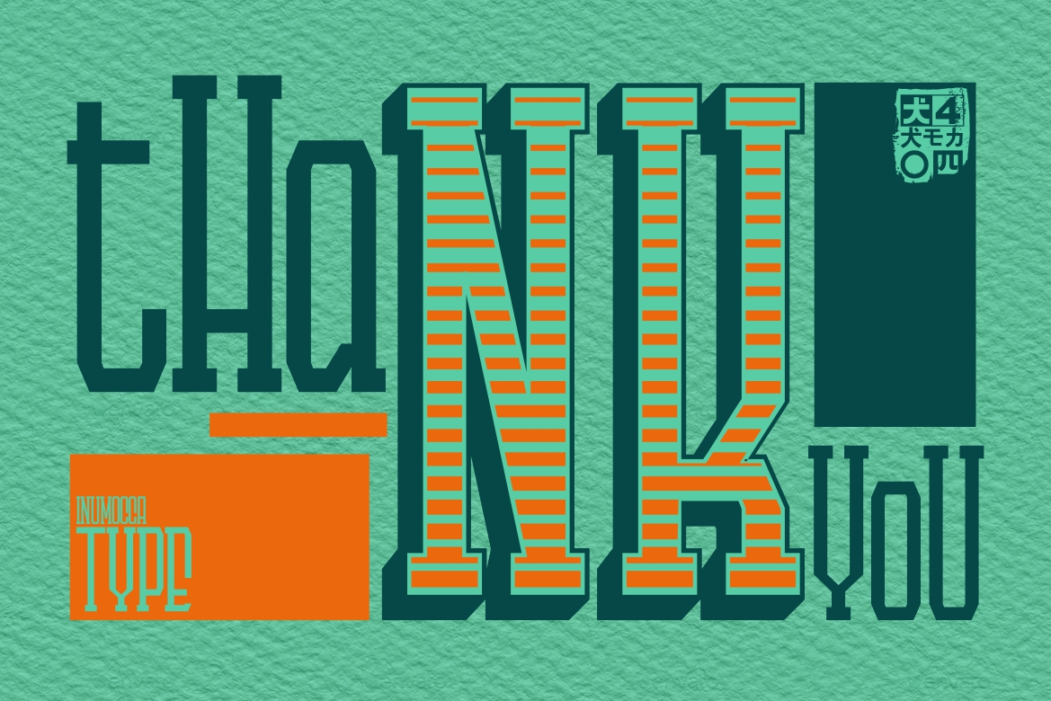 LANDdeuh Layered font Family example image 6