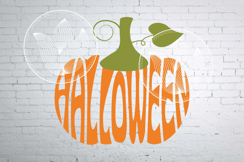 Digital Halloween Word Art Jpg Png Eps Svg Dxf