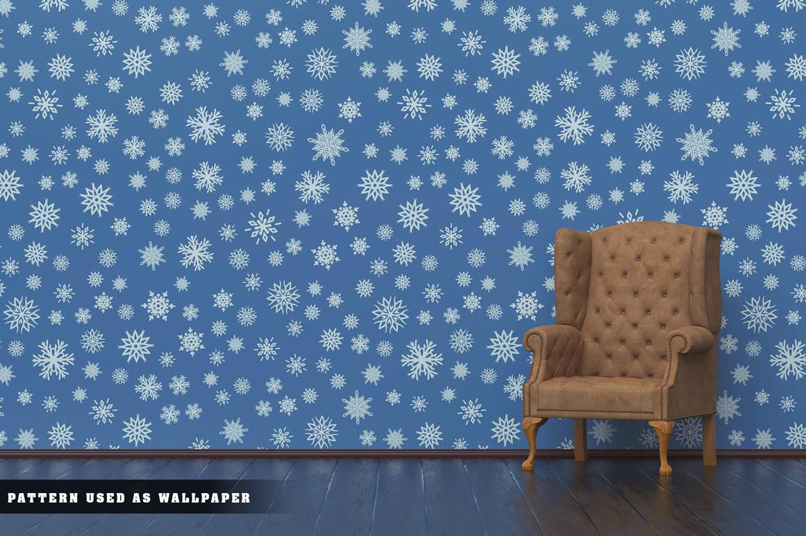 100 Snowflake Seamless Patterns example image 24