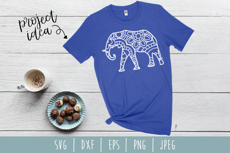 Elephant Mandala Zentangle Bundle Set of 4 - SVG example image 7