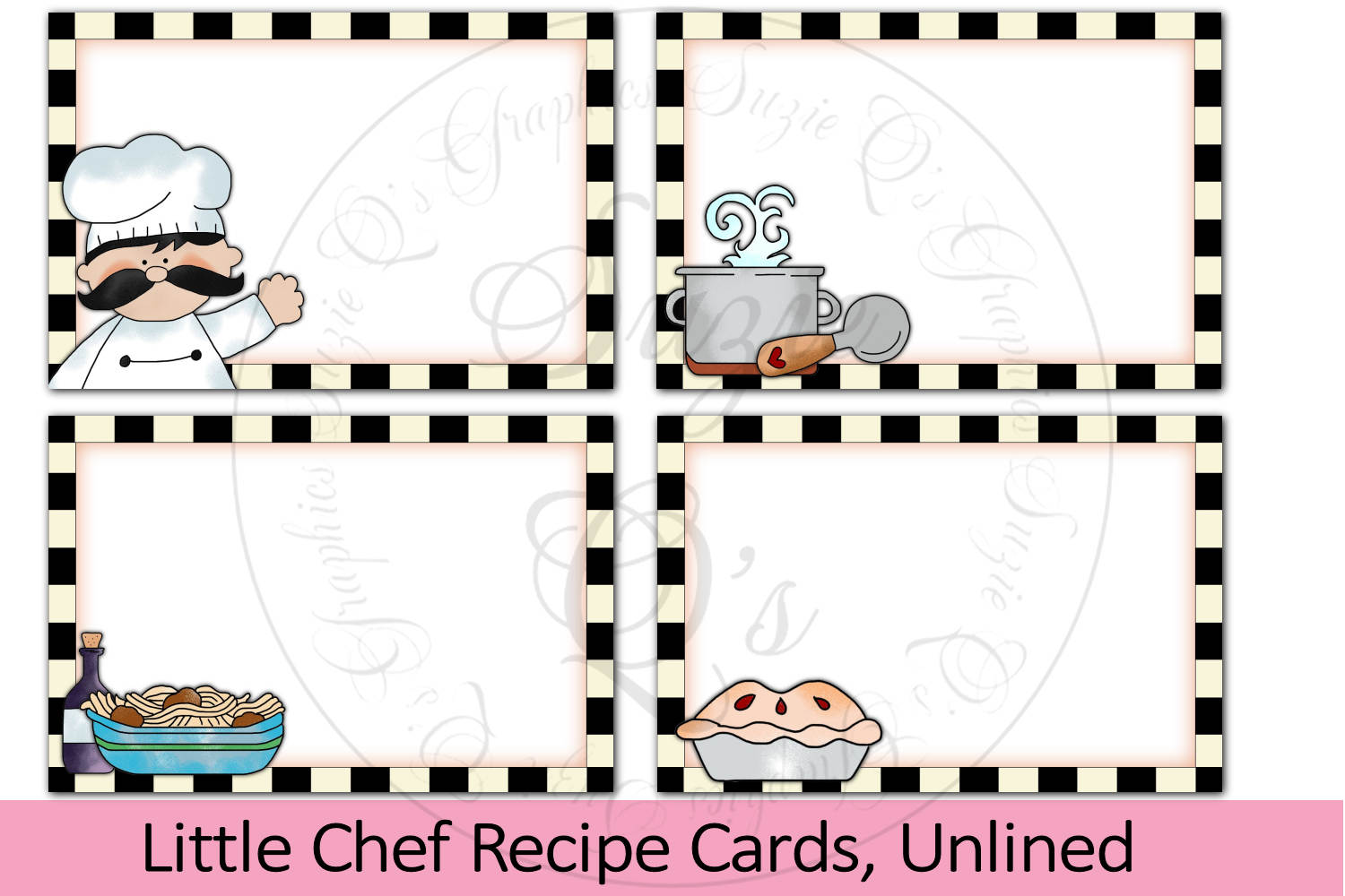 Little Chef Recipe Cards, unlined example image 1