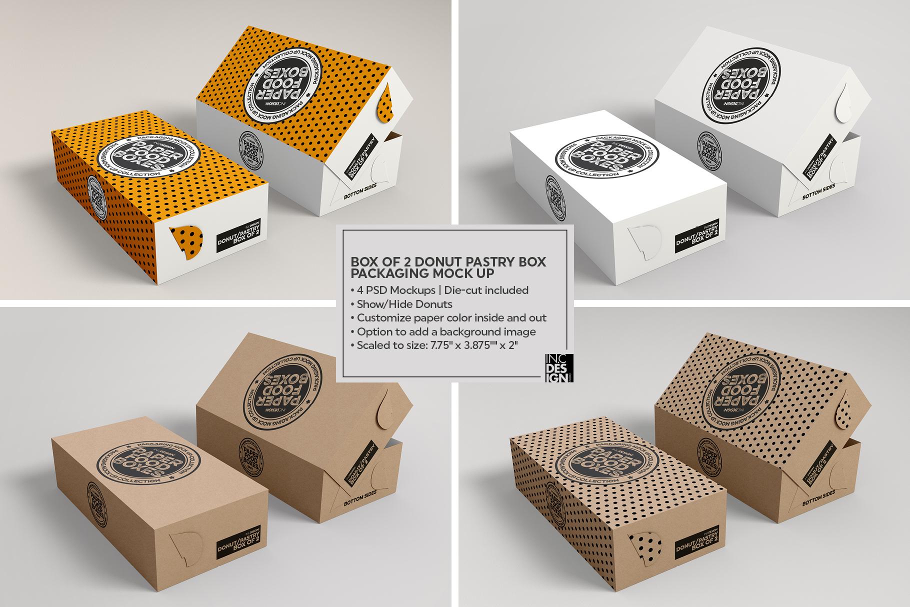 VOL.11 Food Box Packaging MockUps example image 14