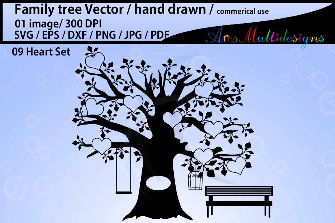 family tree clipart SVG, EPS, Dxf, Png, Pdf, Jpg / family ...