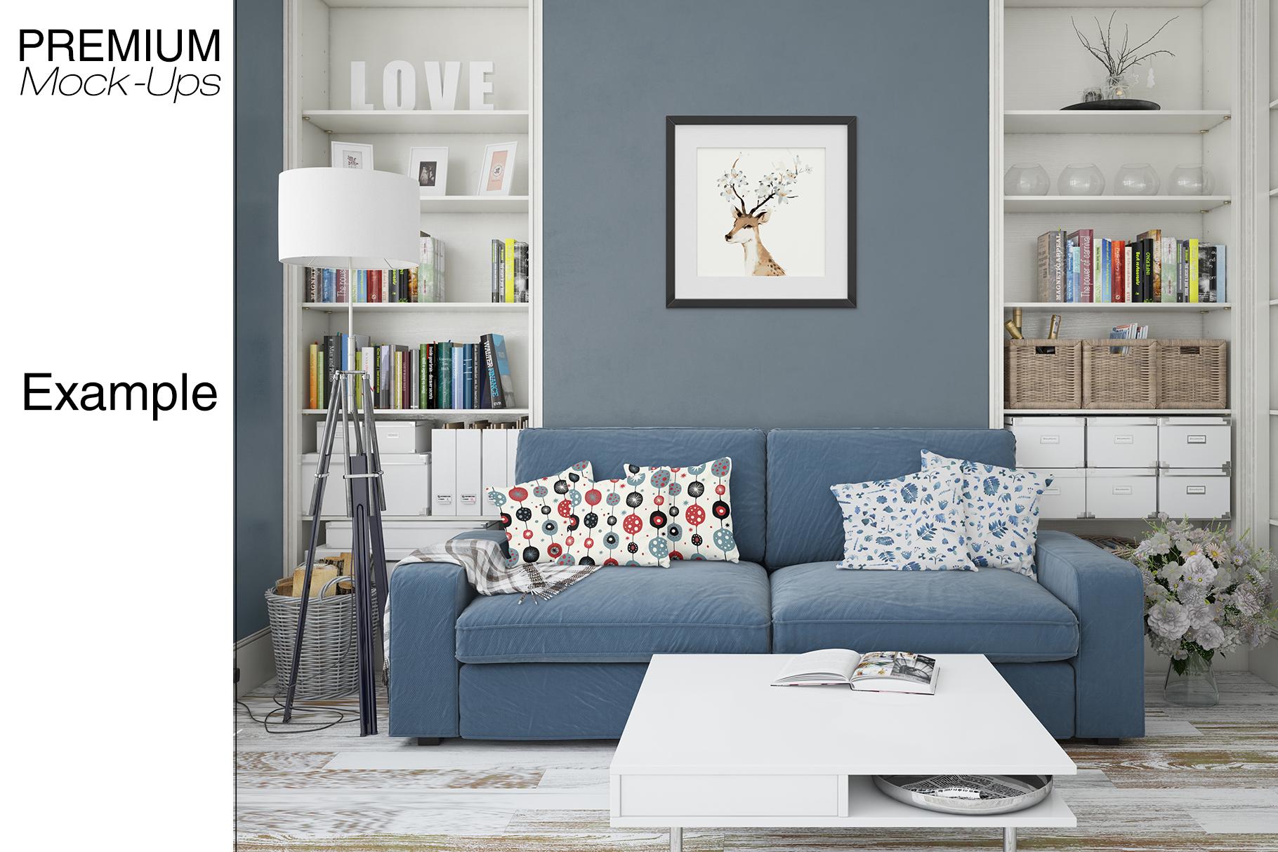 Pillows & Frames Mockup Set example image 13