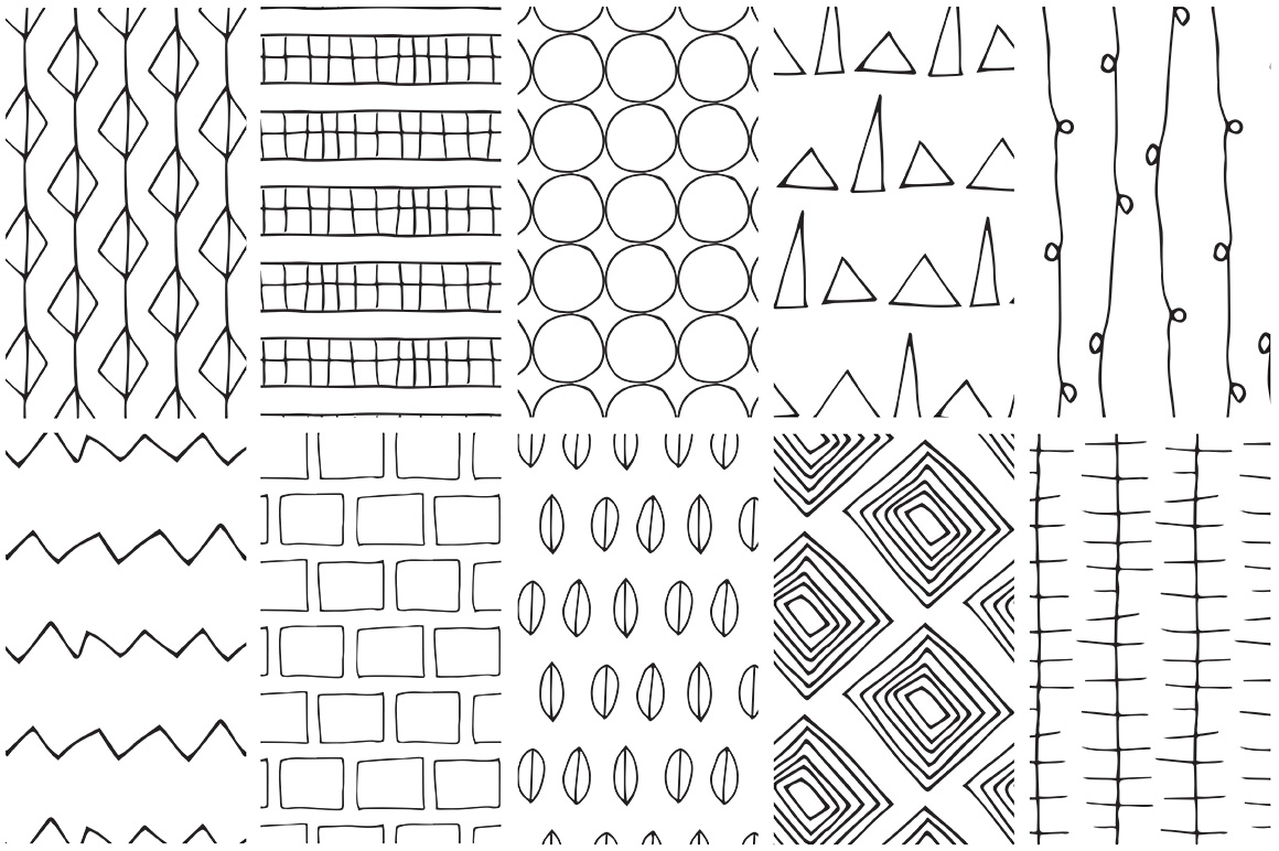 Simple Line Handdrawn Patterns example image 5