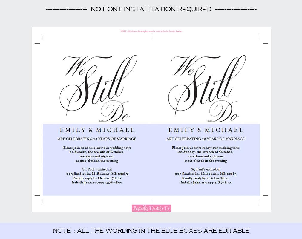 Vows Renewal Invitation example image 4