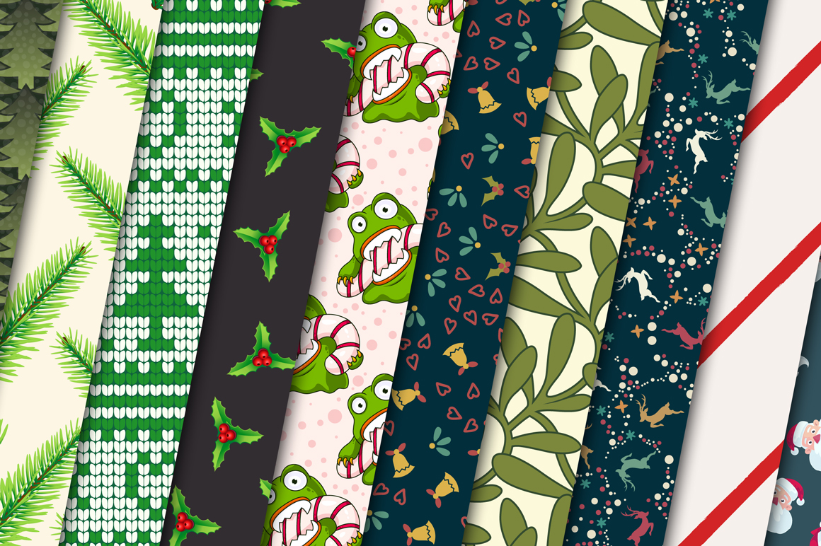 100 Christmas Seamless Patterns example image 7