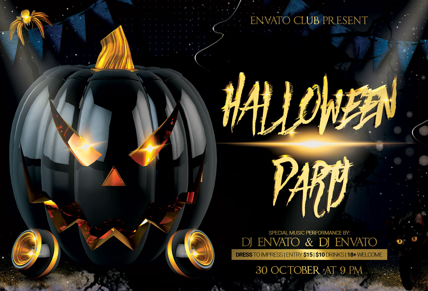 Halloween Flyer example image 3